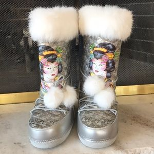 Limited Edition Ed Hardy Geisha Eskimo Snow Boots